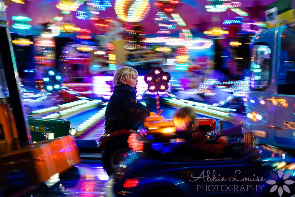 Munich kids riding on carousel at a Munich Christmas market