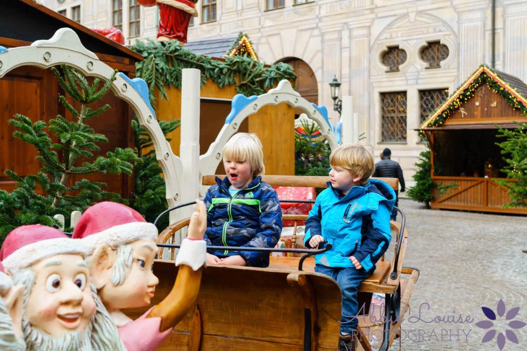 Munich kid enjoying a Munich Christmas market